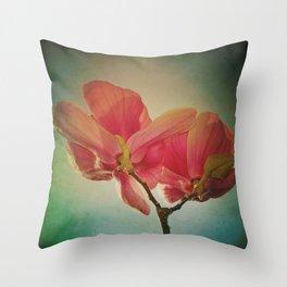 Vintage Spring Flowers Throw Pillow