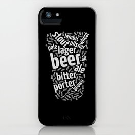 Beer Glass Word iPhone Case