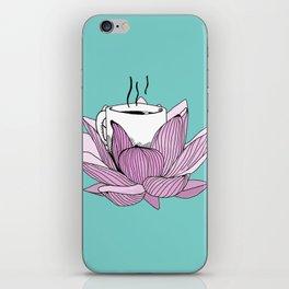 Lotus coffee iPhone Skin