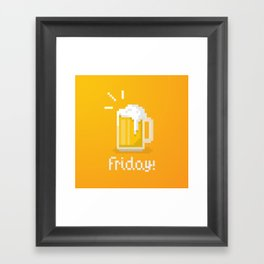 Pixel Friday Framed Art Print
