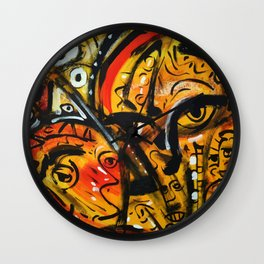 The third eye expressionist art Wall Clock