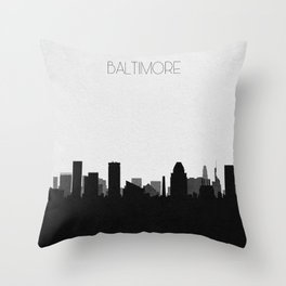 City Skylines: Baltimore Throw Pillow