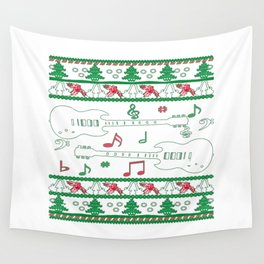 Guitar Christmas Wall Tapestry