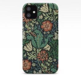 William Morris Compton Floral Art Nouveau Pattern iPhone Case