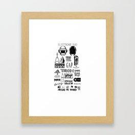 Deconstructing Daft Punk Framed Art Print