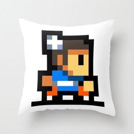 Minimalistic Chun-Li - Pixel Art Throw Pillow