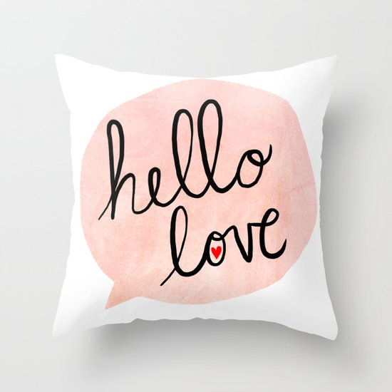 Hello Love Throw Pillow