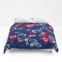 Video Game Red White & Blue 2 Comforters