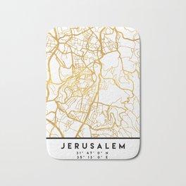 JERUSALEM ISRAEL PALESTINE CITY STREET MAP ART Bath Mat