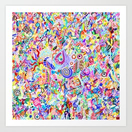 No Ugly Colors Art Print