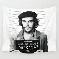 che Wall Tapestries featuring Public Order Che Guevara by Maioriz Home
