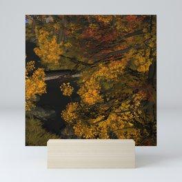 Autumn Leaves and Stream Mini Art Print