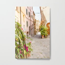 Narrow street in Tuscany Metal Print