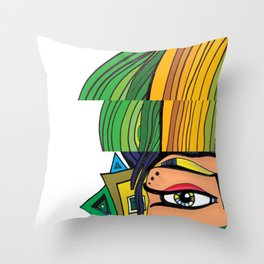 """""""Green with Envy"""" Throw Pillow"""