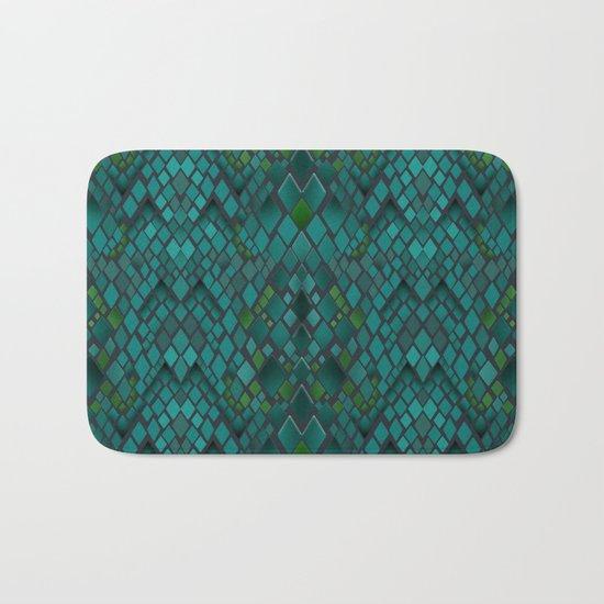 Digital graphics snake skin. Bath Mat