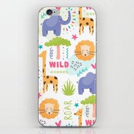Wild Zoo Pattern iPhone Skin