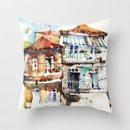 Windows of Porto Throw Pillow