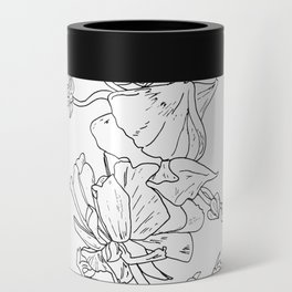 Floral Ink - Black & White Ranunculus by Cooper and Colleen Can Cooler