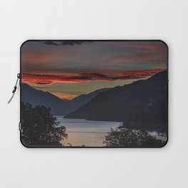 Sunset over Queenstown and Lake Wakatipu Laptop Sleeve