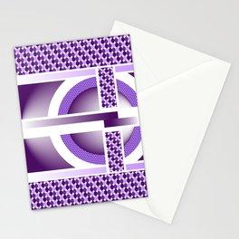 Purple Dots Stationery Cards