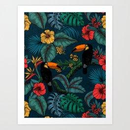 Tropical garden 2 Art Print
