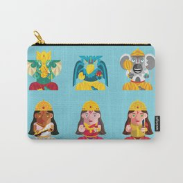 Indian Box Dolls Carry-All Pouch