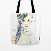 ultraviolence Tote Bags featuring Ultraviolence by Cora-Tiana