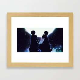 Attack On Titan Silhouette Framed Art Print