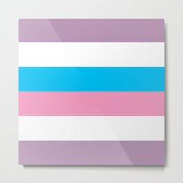 Intersex Flag v1 Metal Print