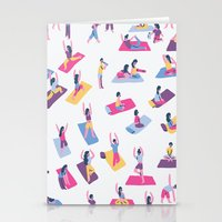 yoga Stationery Cards featuring Yoga by Sara Maese