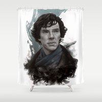 sherlock Shower Curtains featuring Sherlock by F3NR1R