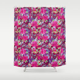Roses and Leopard Spots Shower Curtain