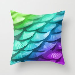 Mermaid Fish Tail Throw Pillow