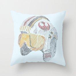 Rebel Pilot Throw Pillow