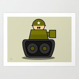 Little Soldiers Tank Military Art, Military Wall Art for Boys Room Nursery Decor Art Print