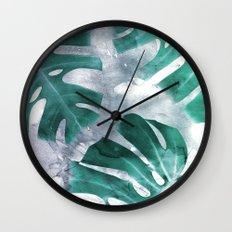 Monstera Theme 1 Wall Clock