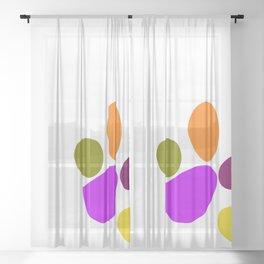 Paw Print Sheer Curtain