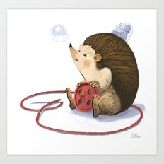 Hedgy Art Print