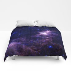 gAlAXY Purple Blue Comforters