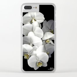 Jessica's Orchids Clear iPhone Case