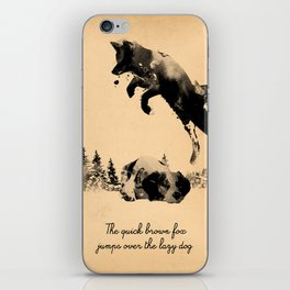 The quick brown fox jumps over the lazy dog iPhone Skin