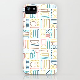 Egyptian pictograms pattern design_03 iPhone Case