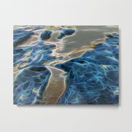 Abstract rock pool and sand on a beach Metal Print