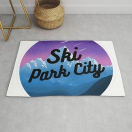 Ski Park City Utah Mountains Nature Winter Skiing Gifts Rug