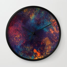 Universe color splash Wall Clock