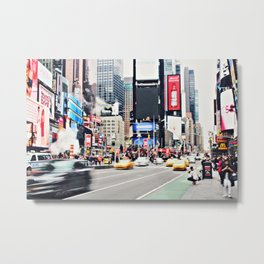 Time Squared Metal Print