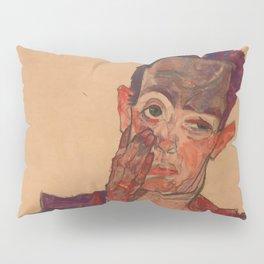 "Egon Schiele ""Self-Portrait with Eyelid Pulled Down"" Pillow Sham"