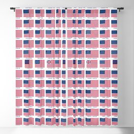 American Flag History Blackout Curtain