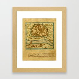 Map Of Seville 1602 Framed Art Print