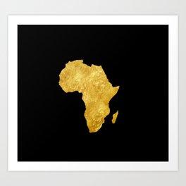Gold Africa Art Print